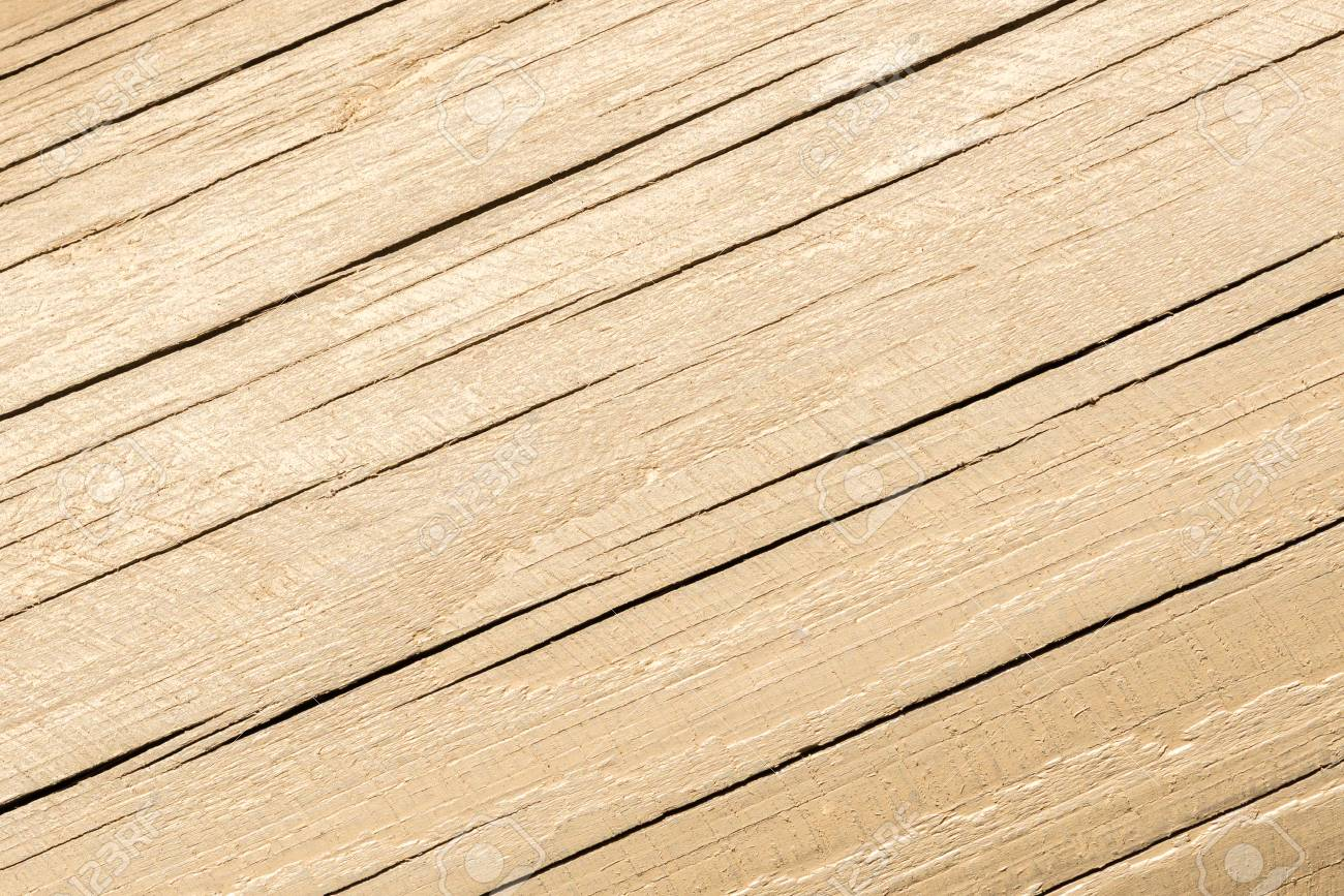 Stock Photo   Wood Texture, Wooden Plank Grain Background, Desk In  Perspective Close Up, Striped Timber, Old Table Or Floor Board