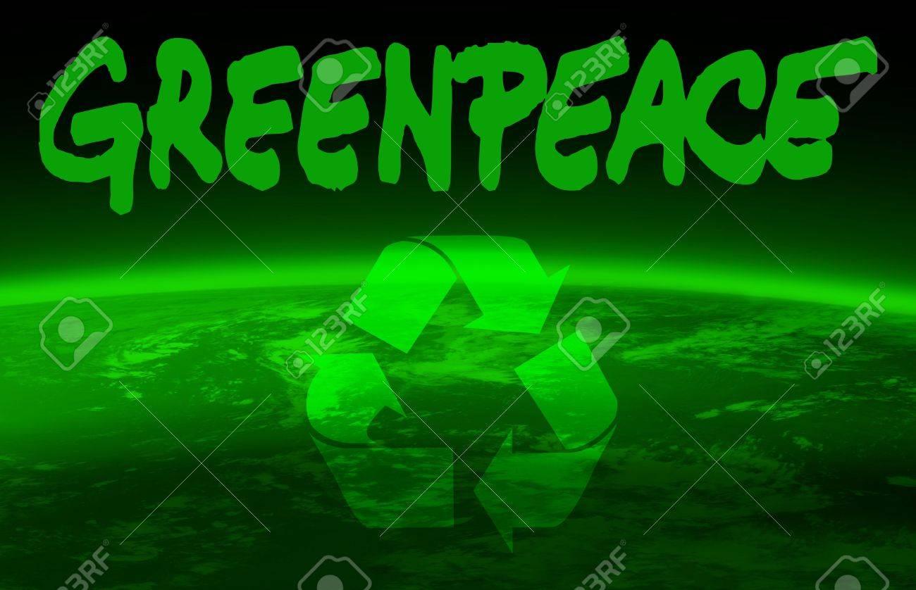 greenpeace and world globe Stock Photo - 4804604