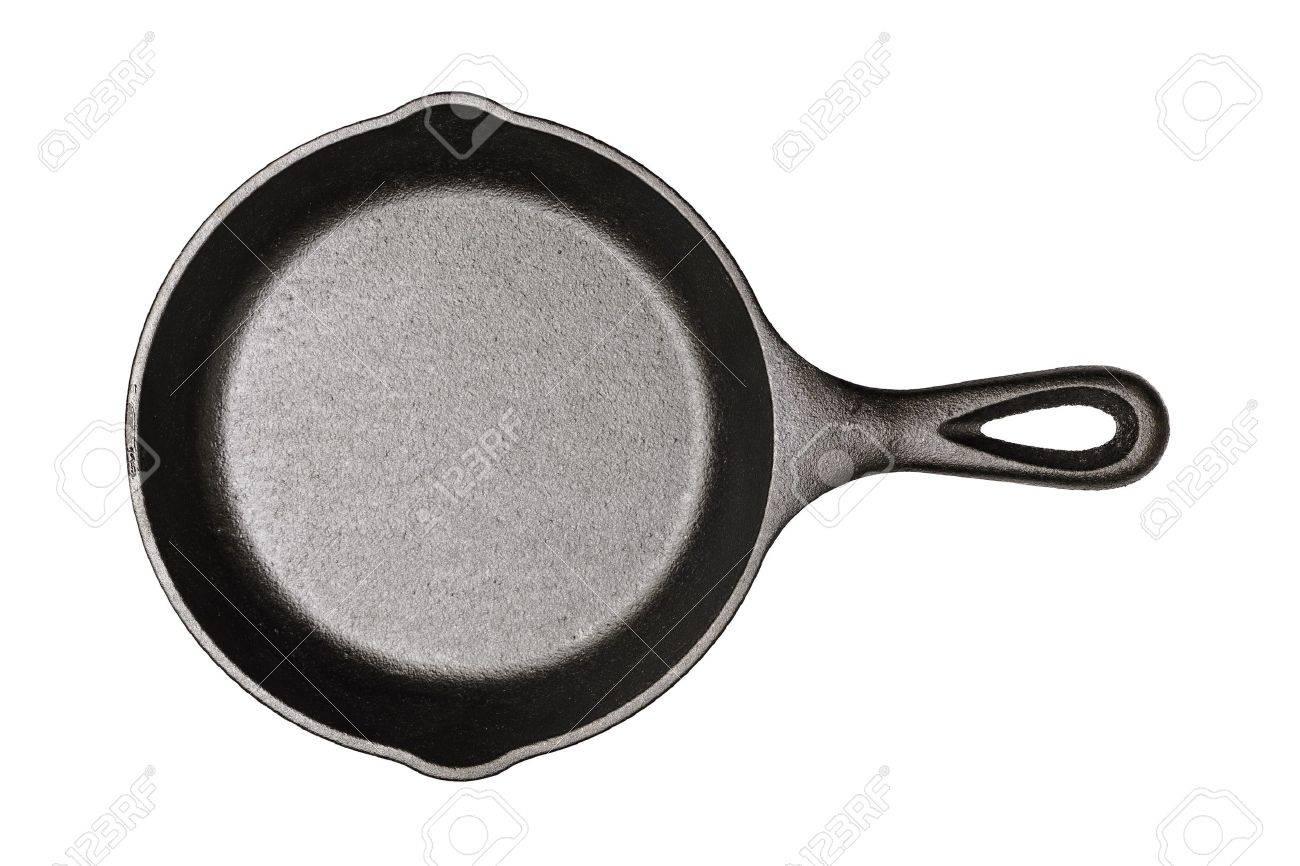 gusseisen pfanne isoliert auf weiss standard bild 17469374