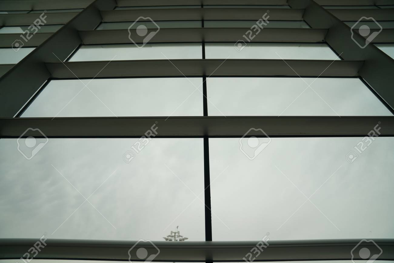 Glass Window With Steel Frame Stock Photo, Picture And Royalty Free ...