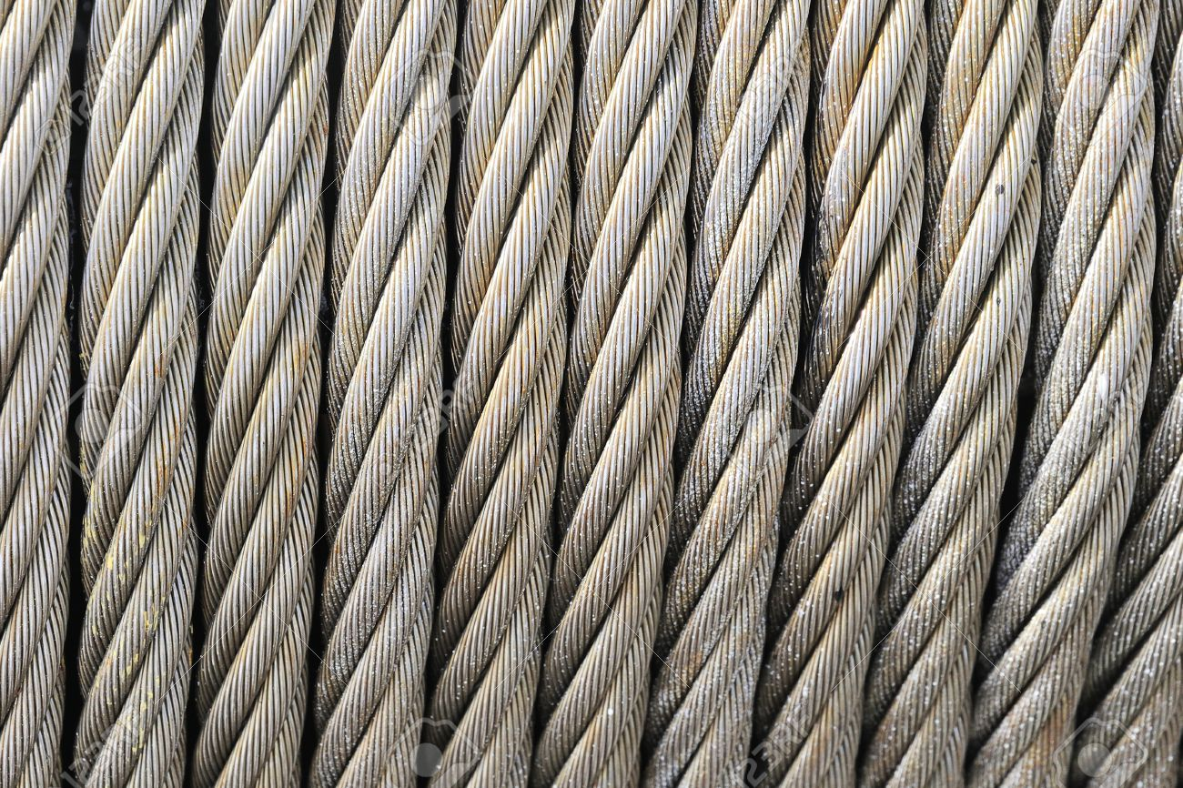 Wire Rope Texture Heavy Duty Steel Cable Stock Photo