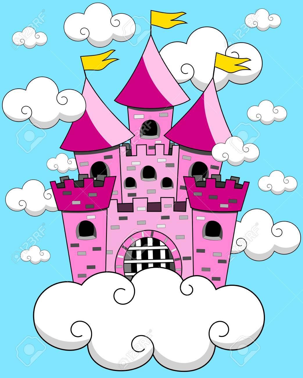 漫画ファンタジー浮遊城ラピュタのイラスト素材ベクタ Image 58735105