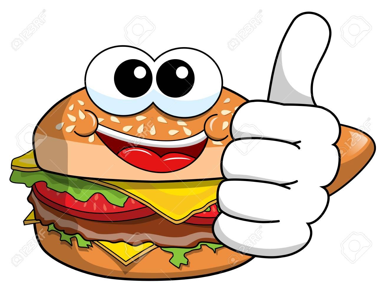 cartoon hamburger character thumb up isolated on white royalty free rh 123rf com cartoon hamburger pictures cartoon hamburger images