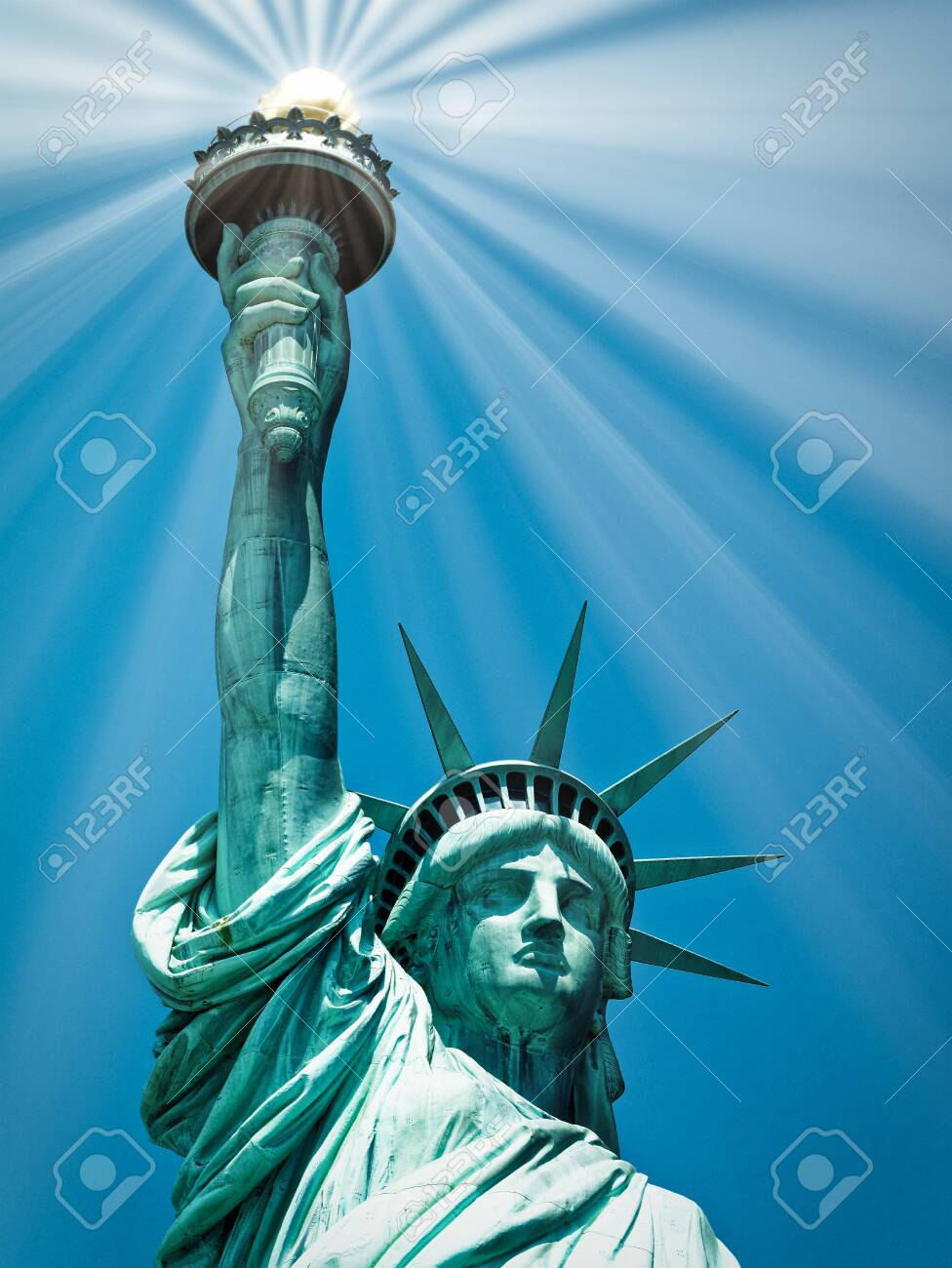 Statue Of Liberty Or Lady Liberty Manhattan New York City Usa.. Stock  Photo, Picture And Royalty Free Image. Image 146843314.