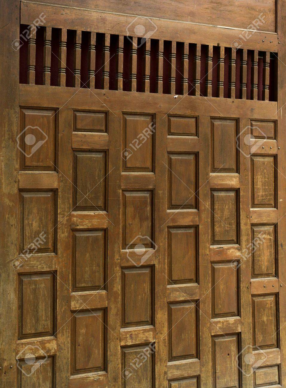 Stock Photo - Traditional Thai wooden doors made â\u20ac\u2039â\u20ac\u2039of wood large. There are a lot of northern Thailand & Traditional Thai Wooden Doors Made â\u20ac\u2039â\u20ac\u2039of Wood Large... Stock ... Pezcame.Com