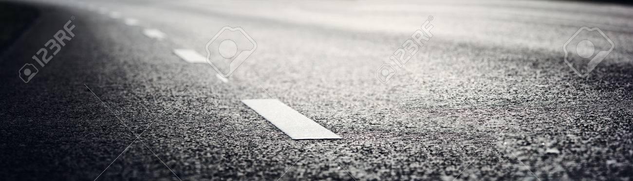 Asphalt road and dividing lines - 84007146