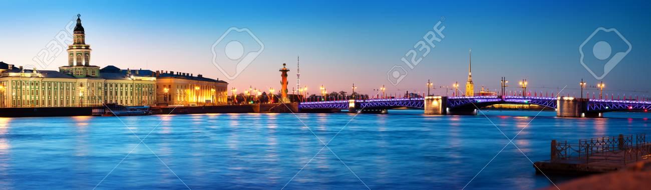 View of Saint Peterburg at night - 101564504