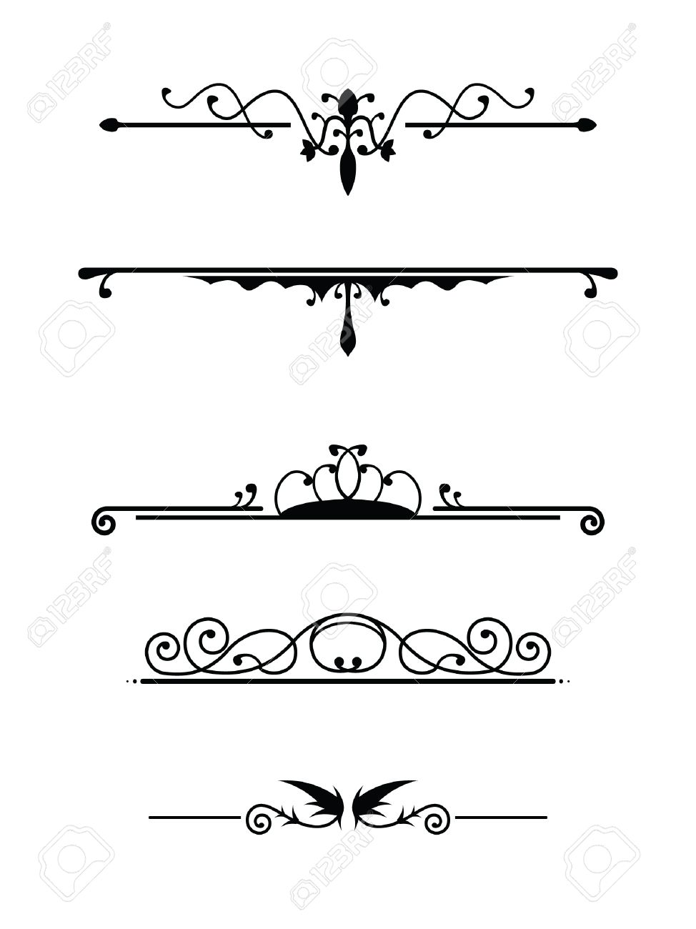 Vintage Dividers Set 2 Royalty Free Cliparts, Vectors, And Stock ...