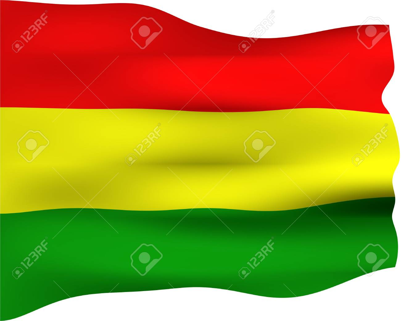 3d bandera de Bolivia  Foto de archivo - 3086727
