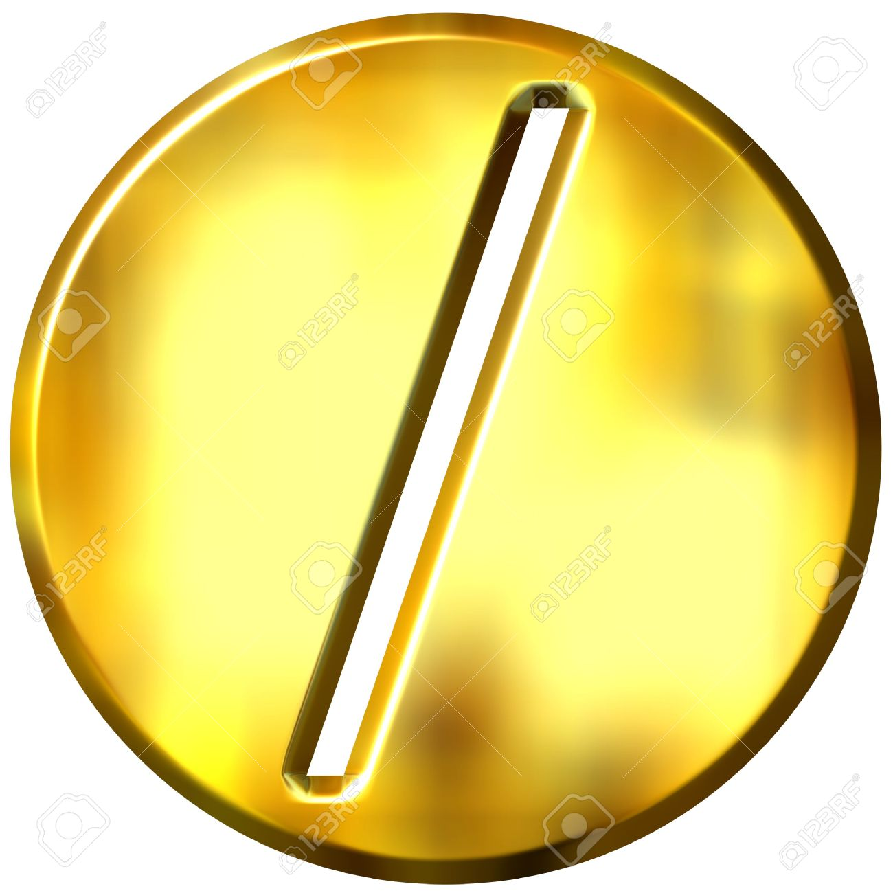 3d golden framed division symbol Stock Photo - 3241420