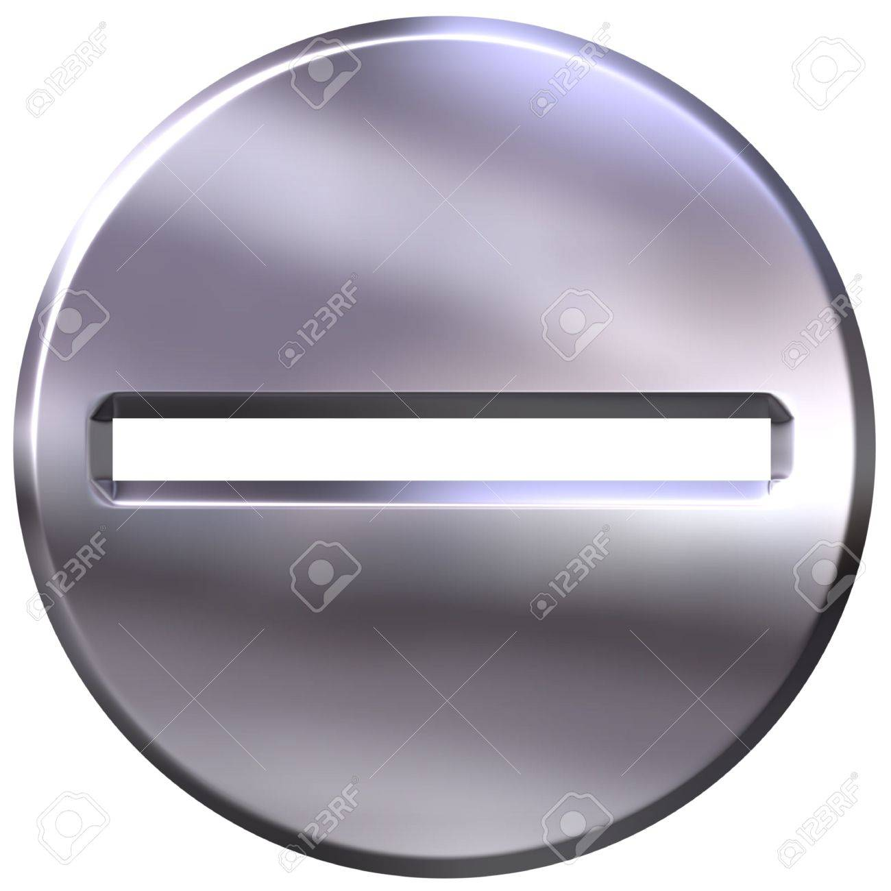 3d silver framed subtraction symbol Stock Photo - 3324830