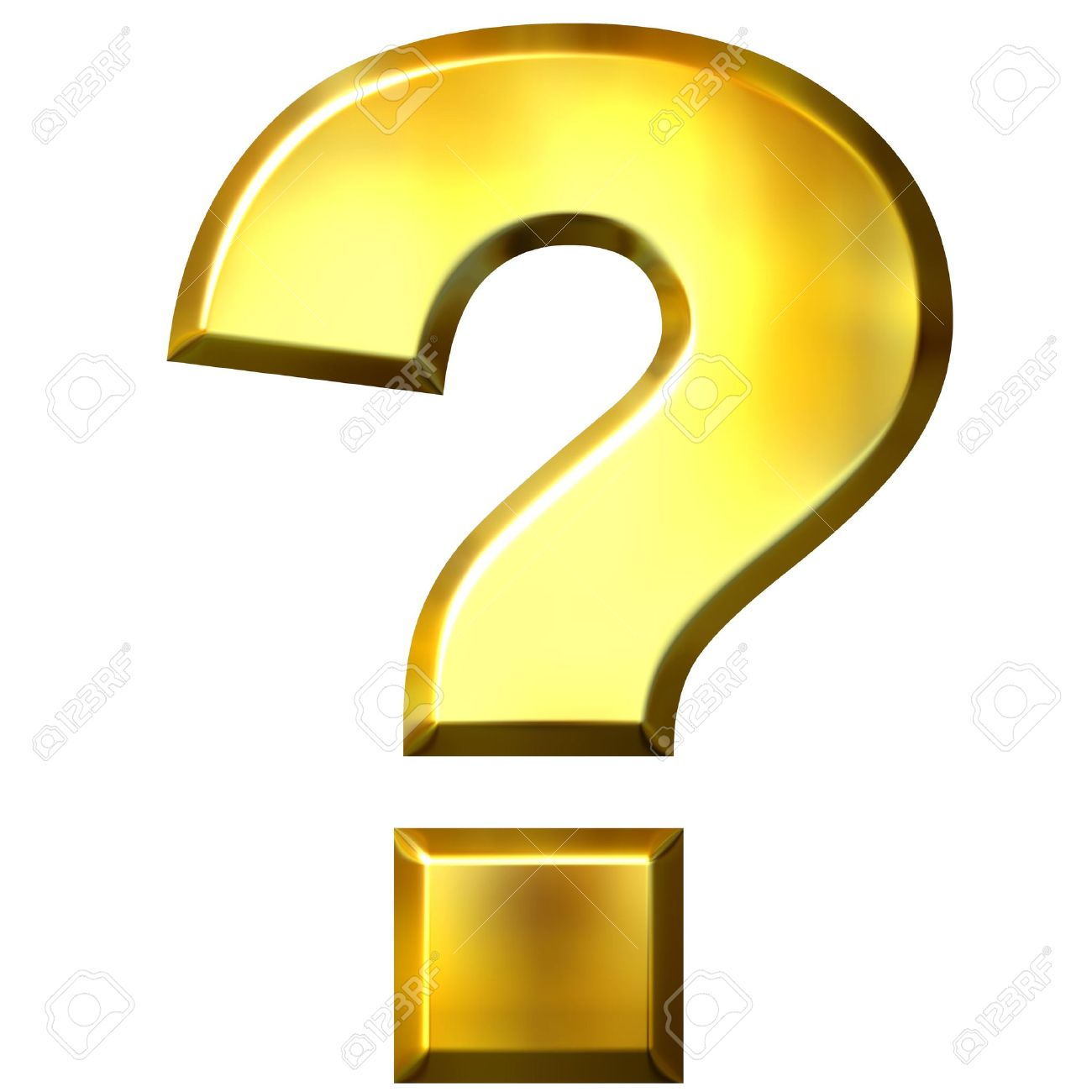 3d golden question mark photo  Yellow Question Marks