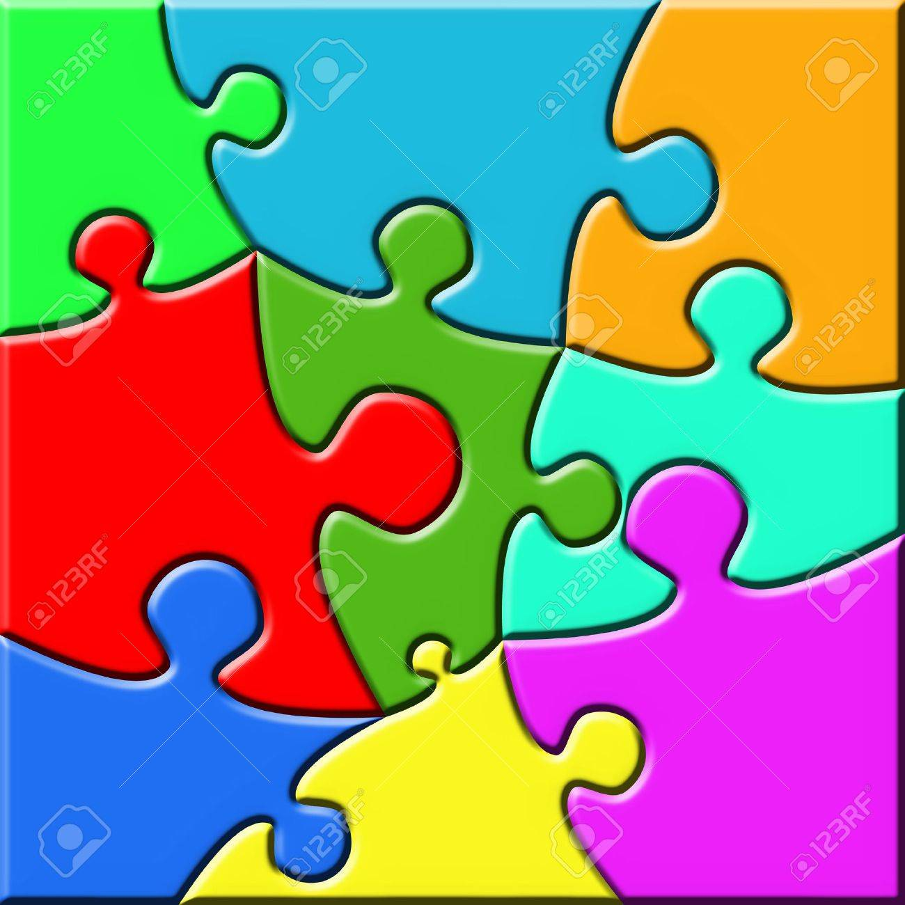 Colorful psychedelic puzzle Stock Photo - 3795486