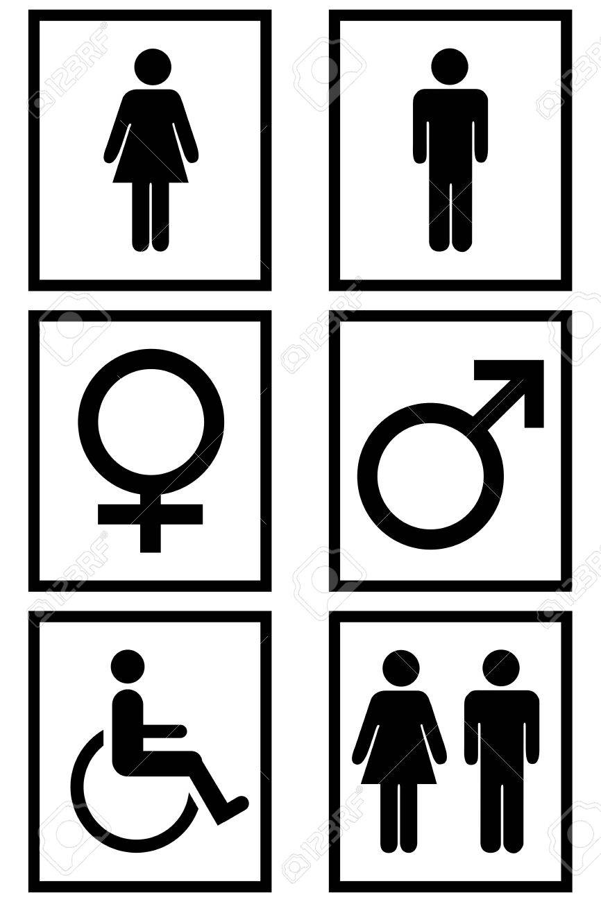 Gender signs isolated in white Stock Photo - 4634213