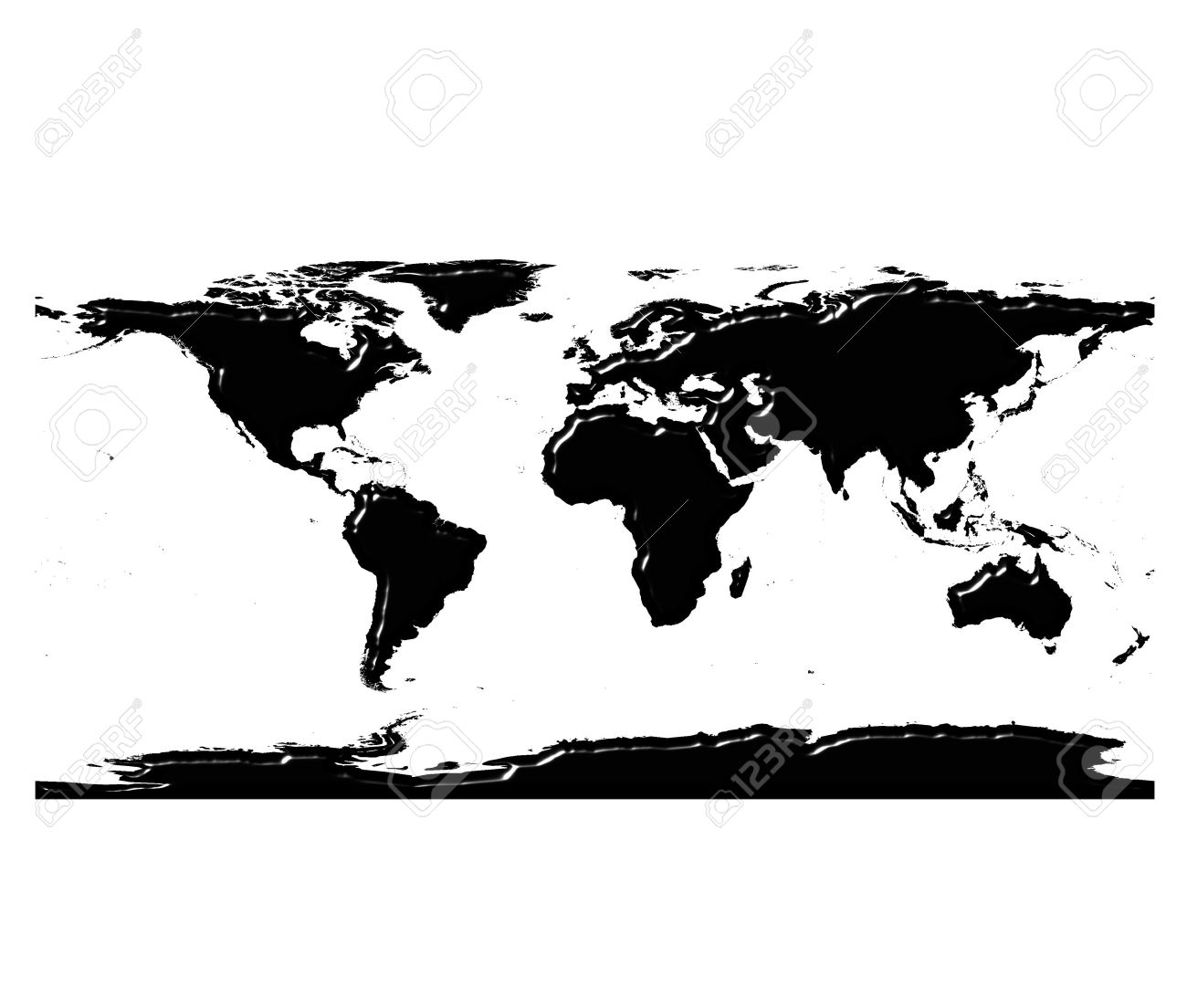 3d world map silhouette with reflection stock photo picture and 3d world map silhouette with reflection stock photo 4675833 gumiabroncs Images