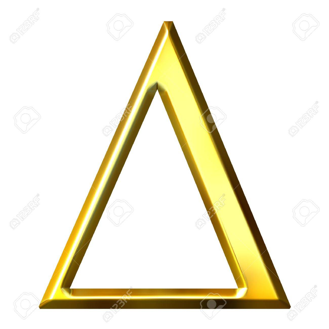3d Golden Greek Letter Delta Stock Photo Picture And Royalty Free