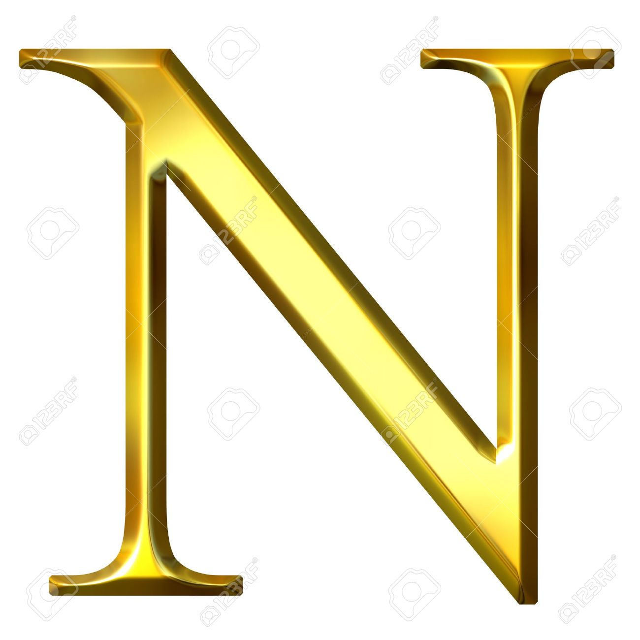 3d golden greek letter ny stock photo 4684619