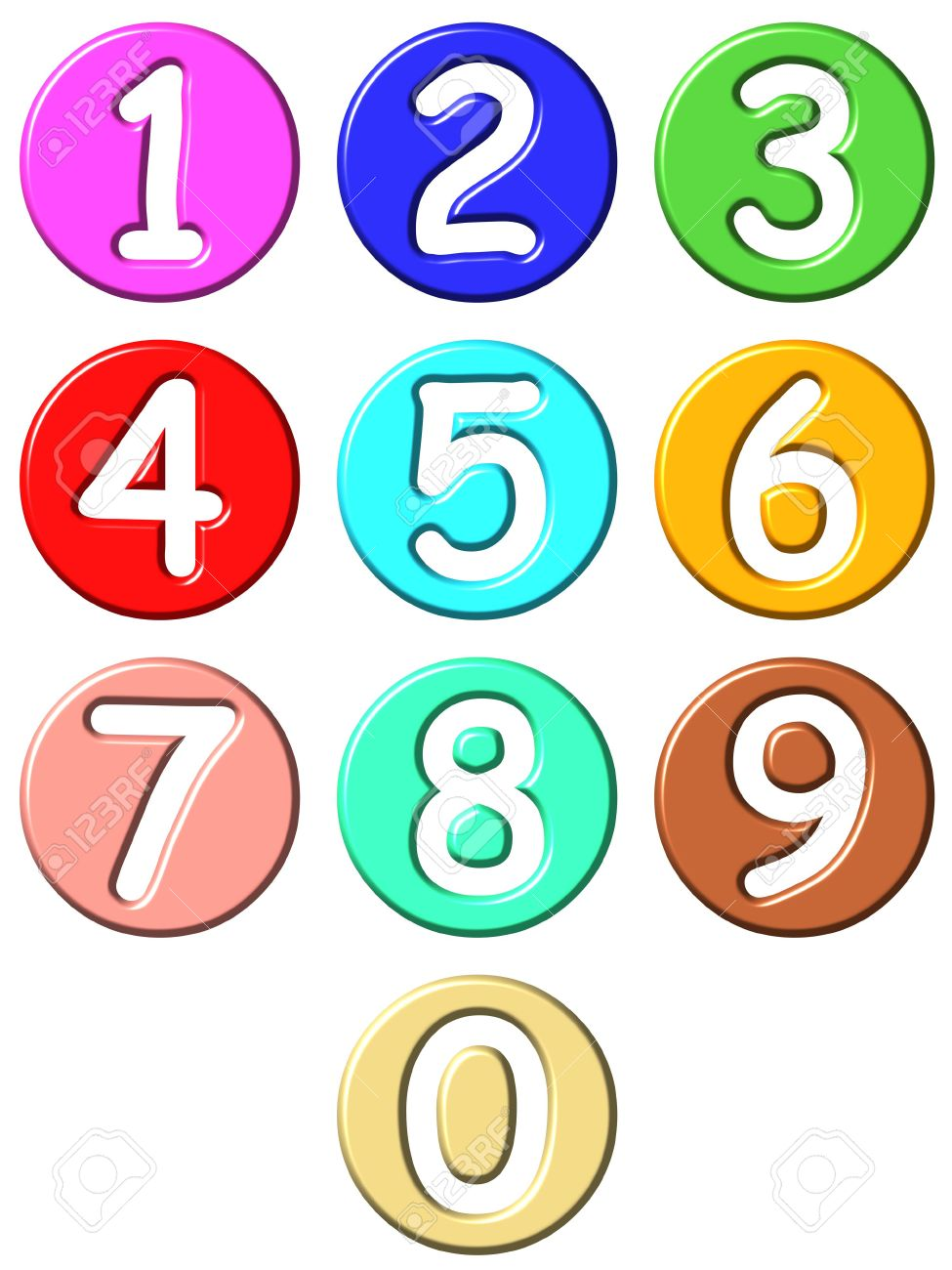 3d comic numbers Stock Photo - 4804756
