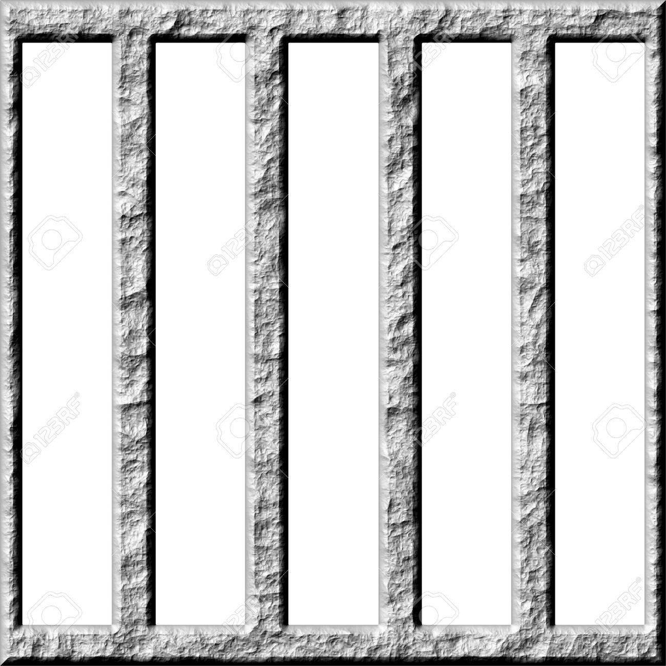 3d stone cage Stock Photo - 4864216