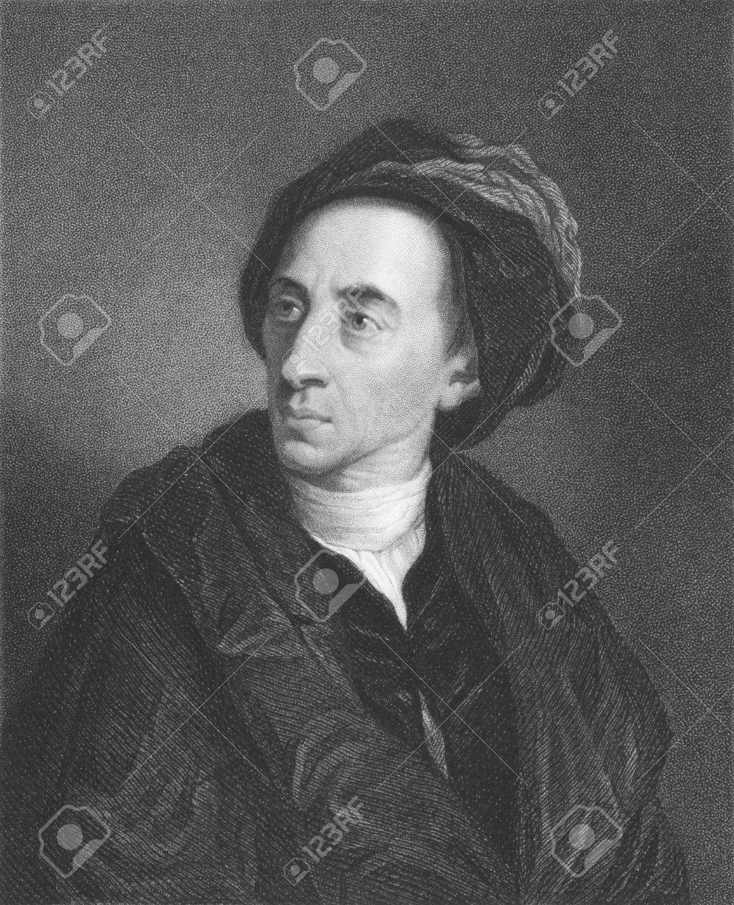 Alexander Pope on engraving from the 1850s. English poet best known for his satirical verse and translation of Homer. Stock Photo - 6222007