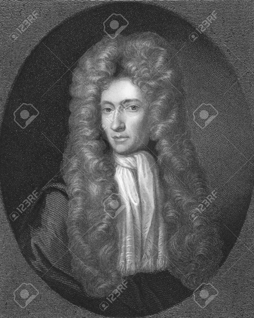 Robert Boyle on engraving from the 1850s. Irish natural philosopher, chemist, physicist, inventor and gentleman scientist, also noted for his writings in theology. One of the founders of modern chemistry. Stock Photo - 6222030