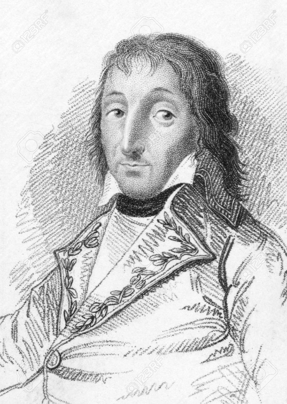 General Pierre Augereau (1757-1816) on egraving from the 1800s. French General. Ranked Marshall of France during the Revolutionary & Napoleonic Wars. Engraved by H.P. Cook and published in 1806 by M. Jones. Stock Photo - 8510781