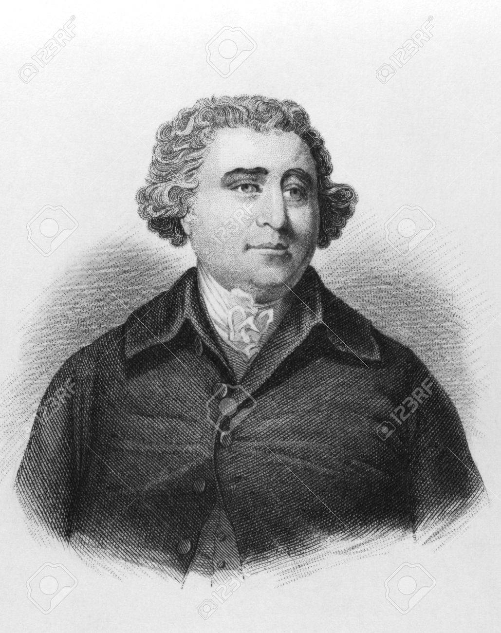 Charles James Fox on engraving from the 1800s. Prominent British Whig statesman. Published in London by L.Tallis. Stock Photo - 8511033