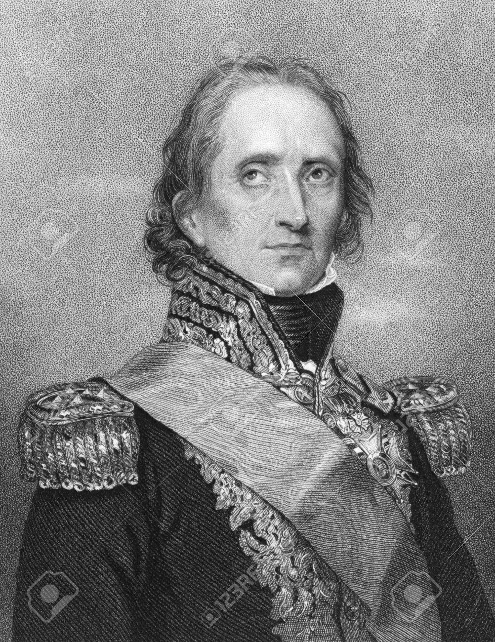 Jean-de-Dieu Soult (1769-1851) on engraving from the 1800s. French general and statesman, named Marshal of the Empire in 1804. Engraved by W.H.Mote after a drawing by Rouillard and published in London Fisher, Son & Co. Stock Photo - 8511468