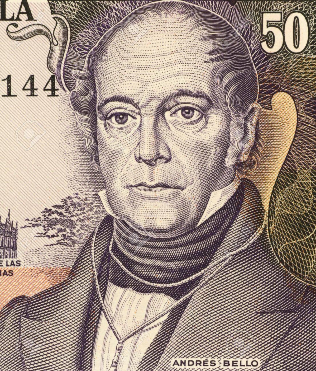 <b>Andrés Bello</b> (1781-1865) Auf 50 Bolivares 1995 Banknote Aus Venezuela. - 7008455-Andr-s-Bello-1781-1865-auf-50-Bolivares-1995-Banknote-aus-Venezuela-Venezolanischen-Humanist-Philoso-Lizenzfreie-Bilder