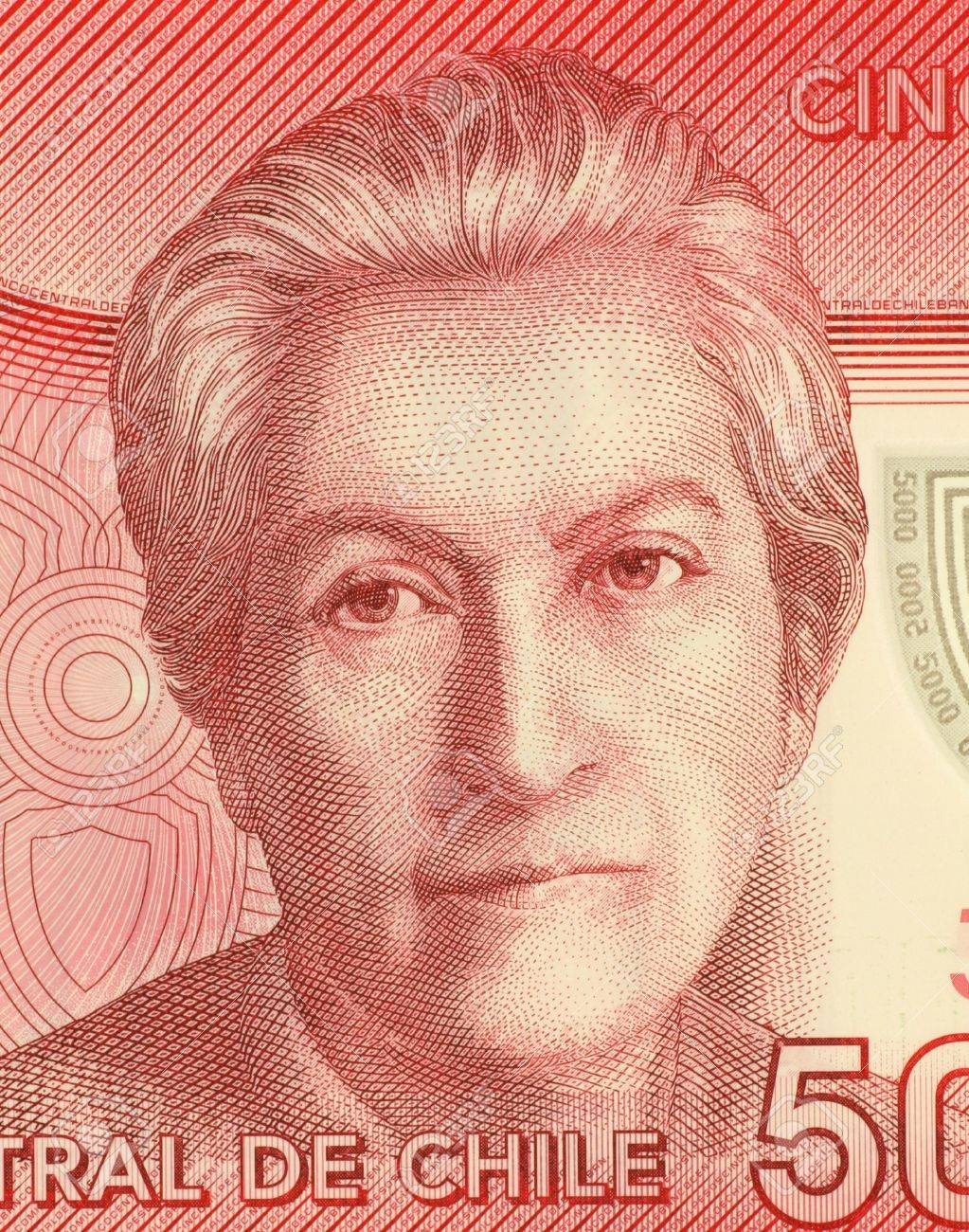 Gabriela Mistral 1889 1957 On 5000 Pesos 2009 Banknote From Chile Chilean
