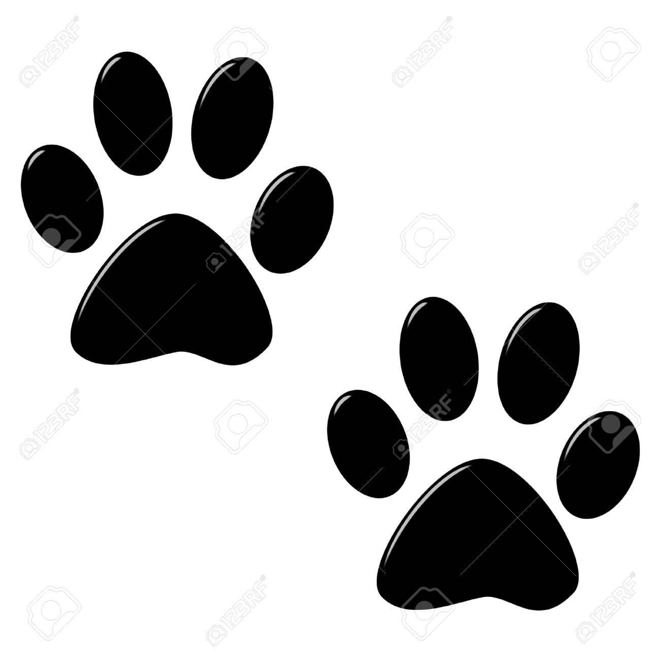 3d Cat Foot Prints Stock Photo Picture And Royalty Free Image