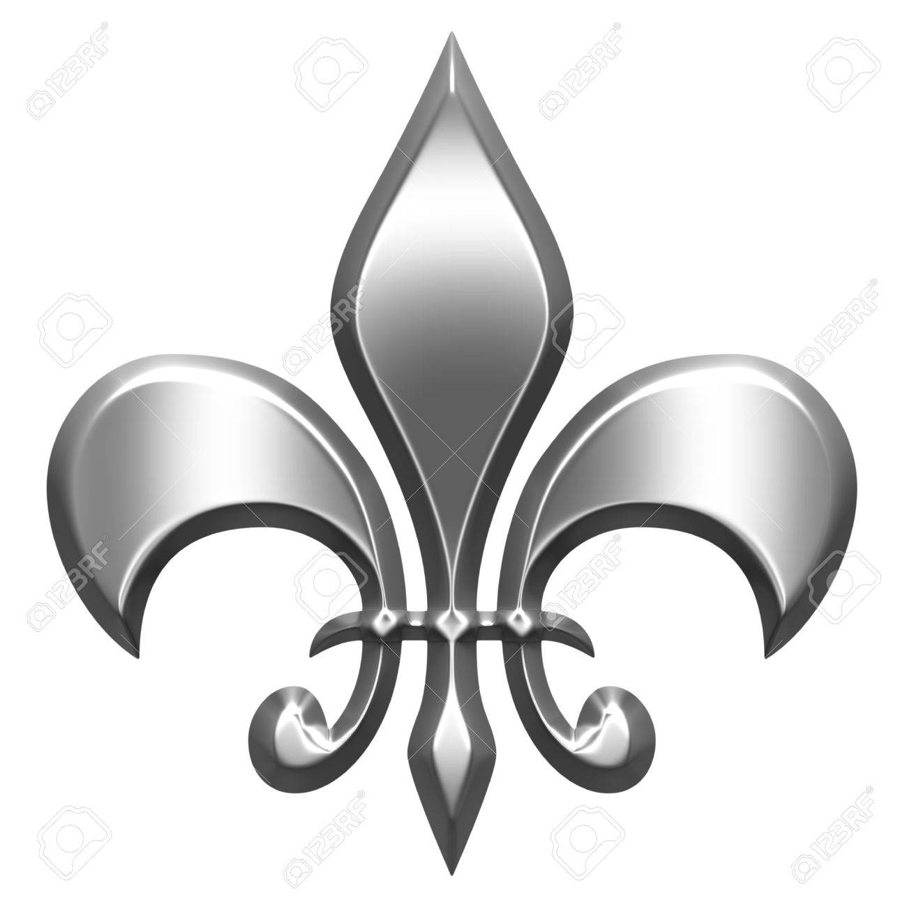 3d silver fleur de lis stock photo picture and royalty free image