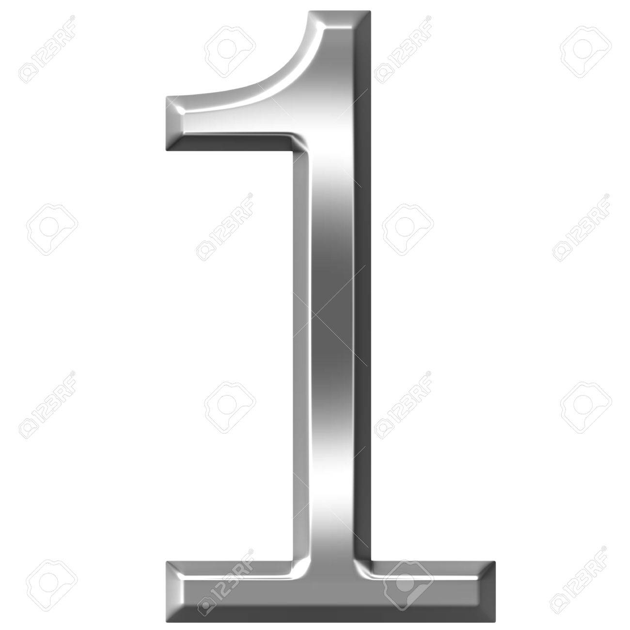silver number 1 - /signs_symbol/alphabets_numbers/silver ...