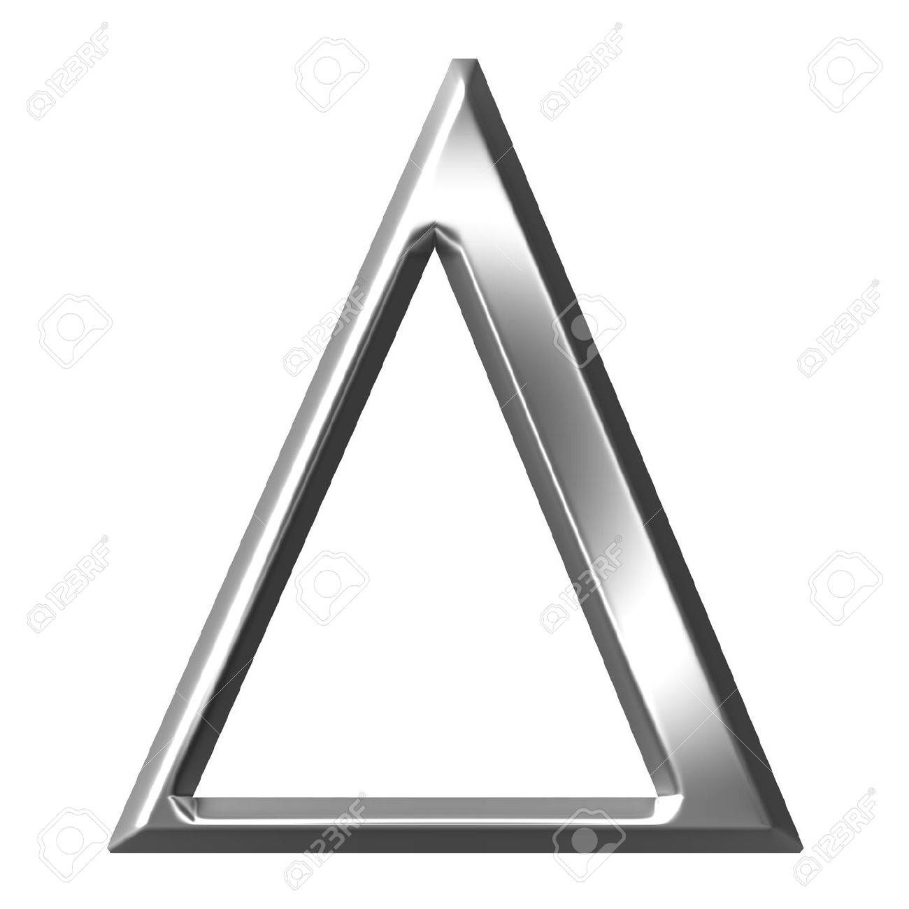 3d Silver Greek Letter Delta Stock Photo Picture And Royalty Free