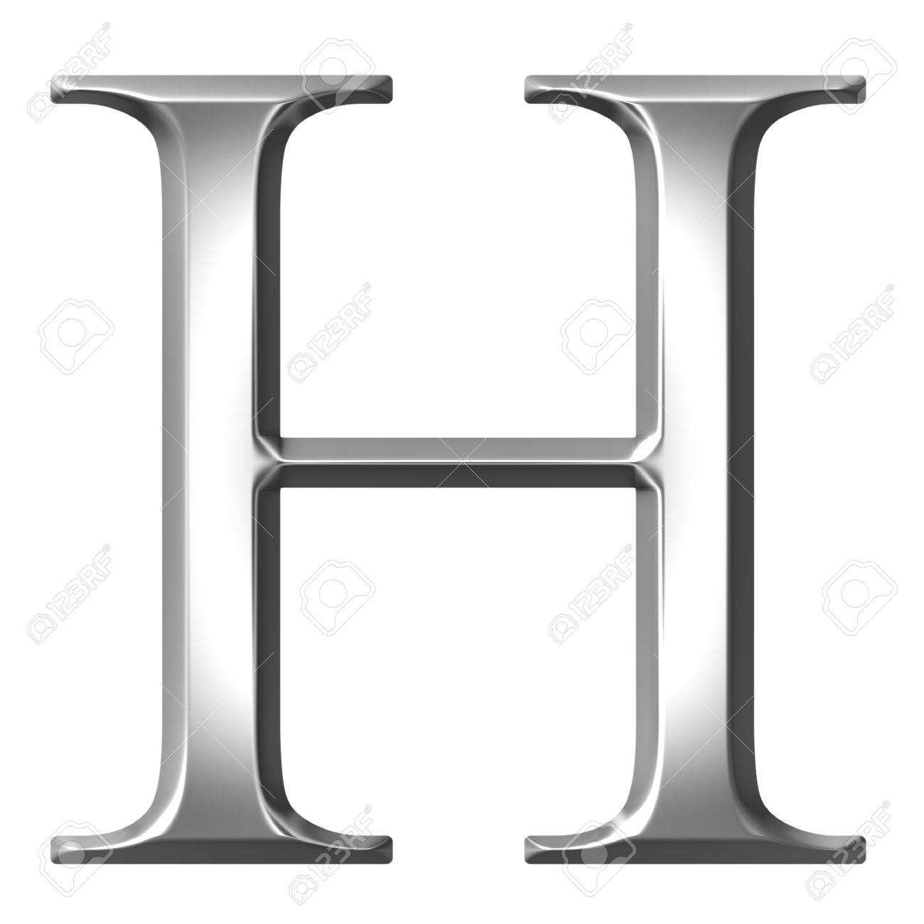 3d Silver Greek Letter Eta Stock Picture And Royalty Free
