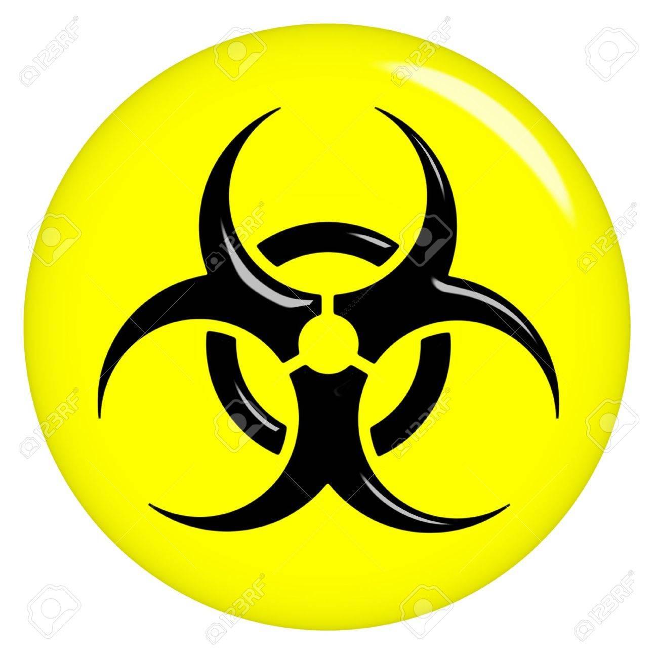 3d biohazard sign Stock Photo - 7352790