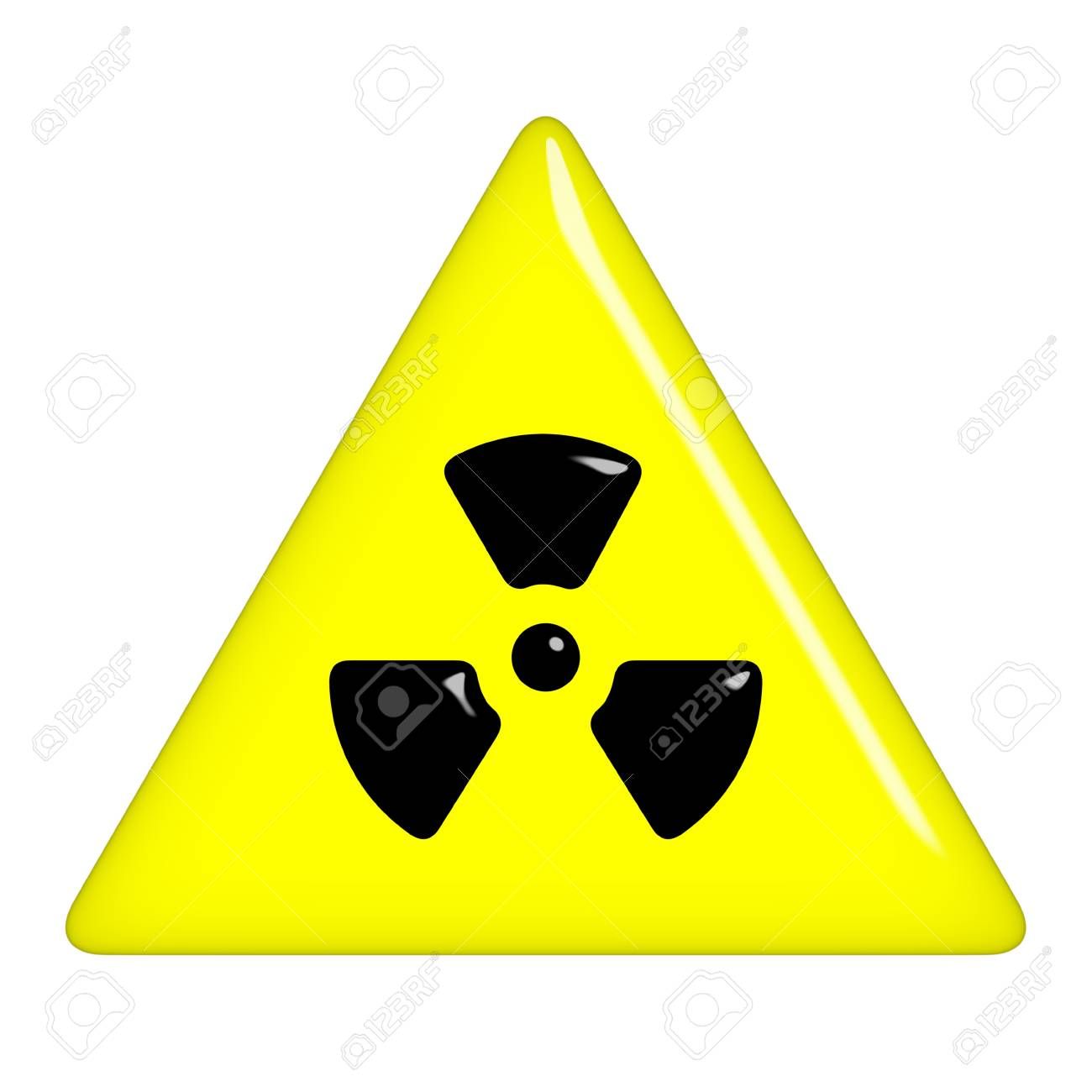 3d radioactive symbol Stock Photo - 7352793