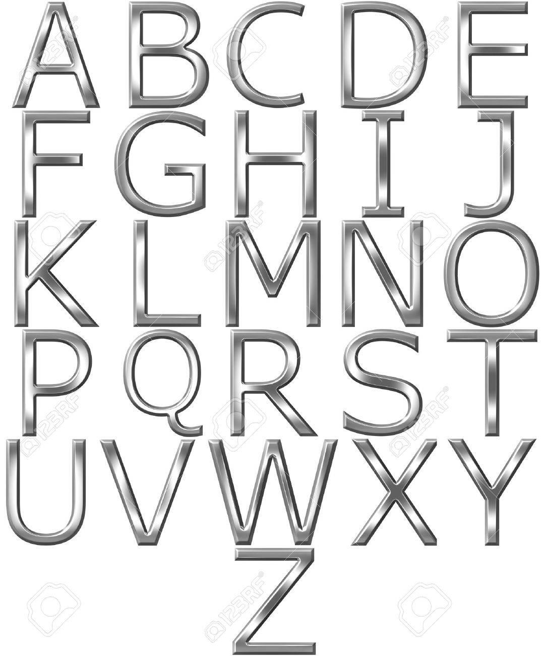 3d silver alphabet Stock Photo - 7352805