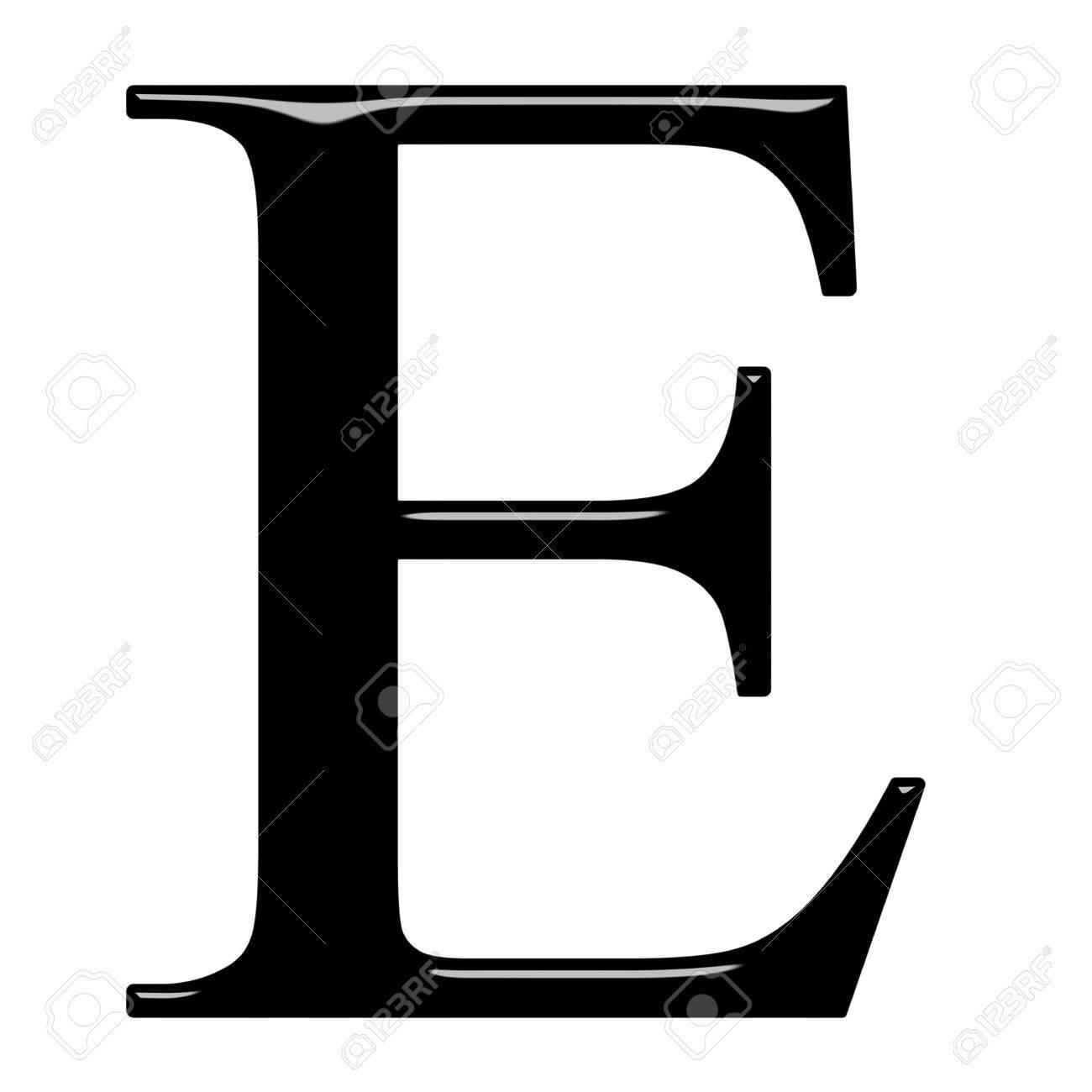 3d Greek letter Epsilon isolated in white Stock Photo - 7403997