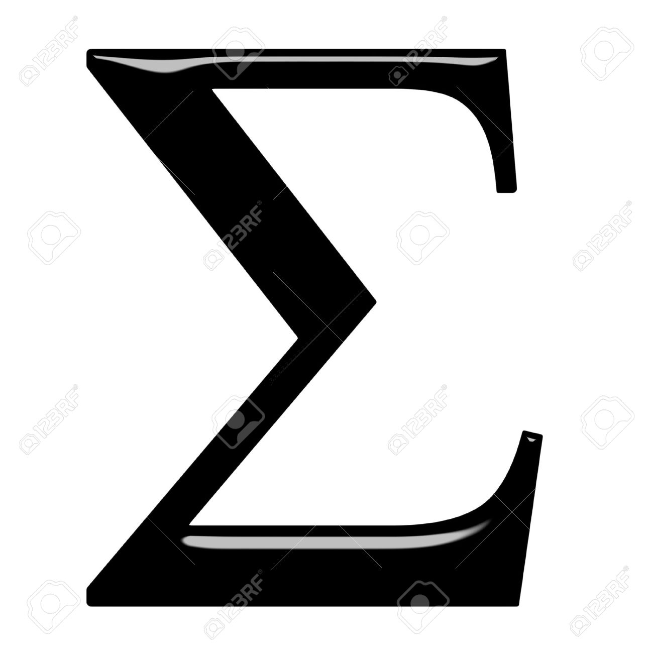 3d Greek letter Sigma isolated in white Stock Photo - 7404003