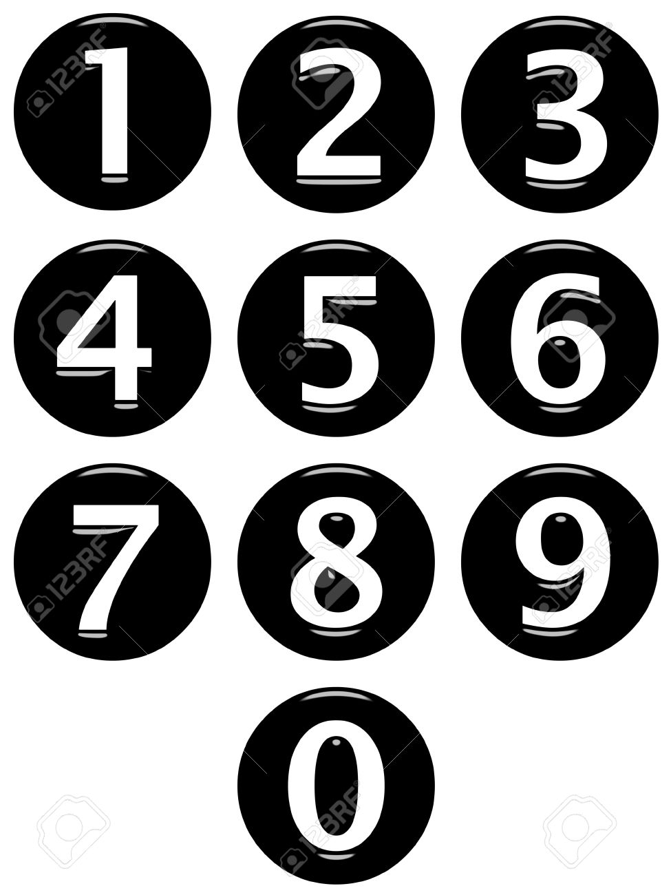 3d framed numbers Stock Photo - 7433064