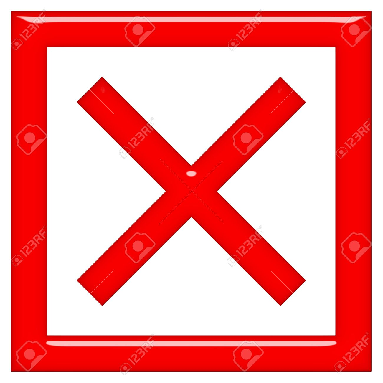 3d rejected or rated X sign Stock Photo - 7438090