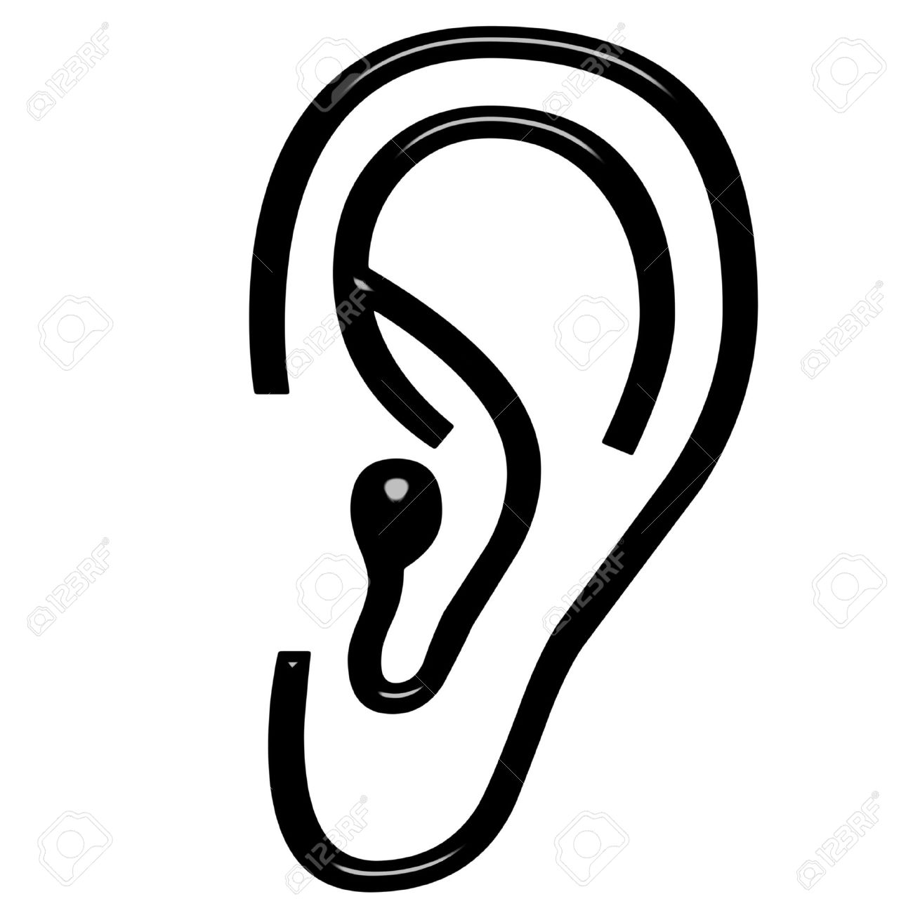 3d ear Stock Photo - 7548341