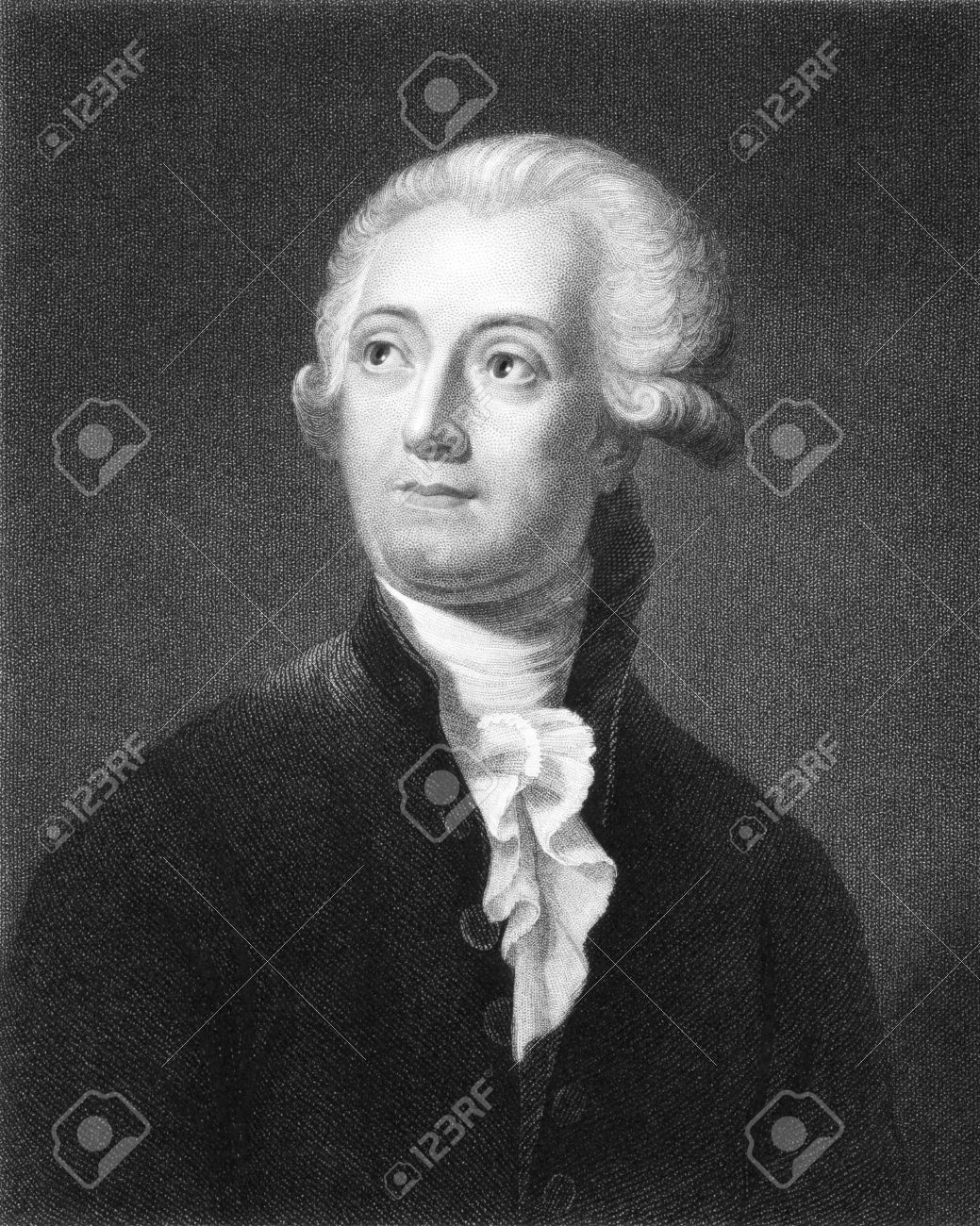 Antoine Lavoisier (1743-1794) on engraving from the 1800s. The father of