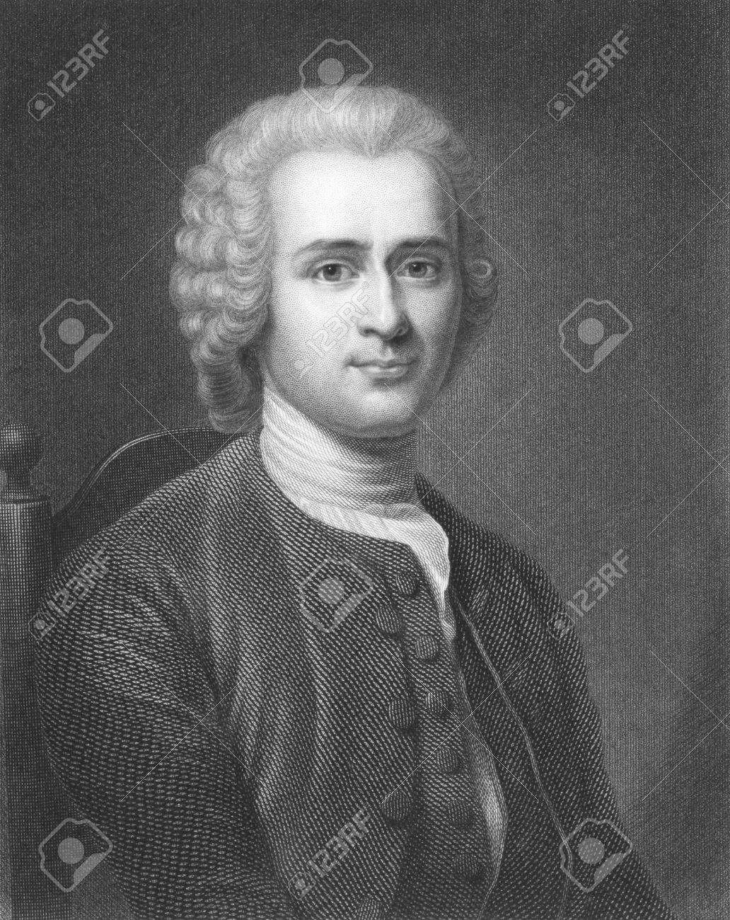 Jean-Jacques Rousseau (1712-1778) On Engraving From The 1800s ...