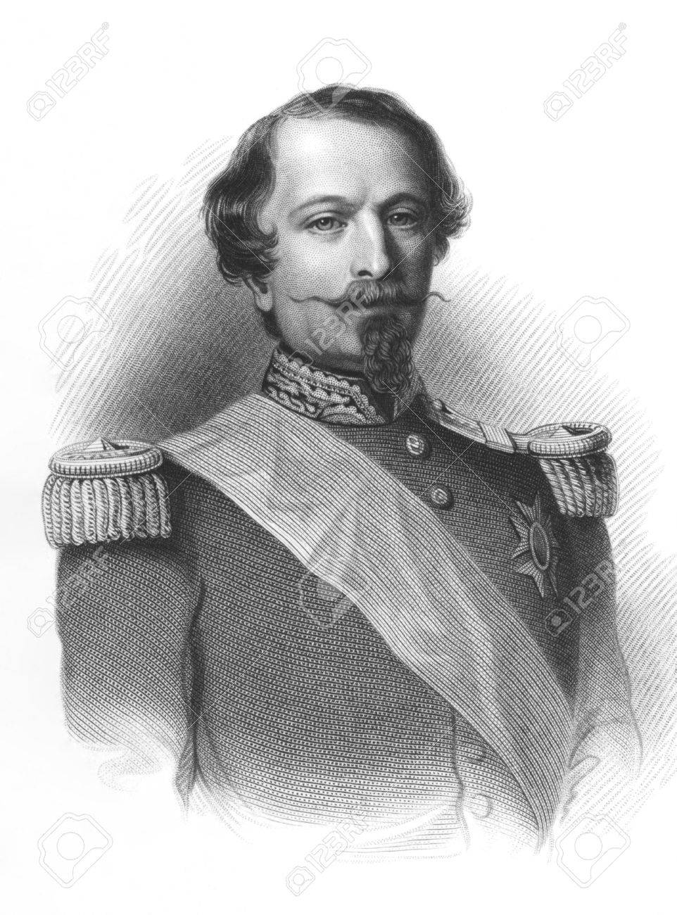 Napoleon III aka Louis Napoleon Bonaparte (1808-1873) on engraving from the 1800s. President of the French Second Republic and ruler of the Second French Empire. Nephew of Napoleon I. Published by Virtue in London. Stock Photo - 8509975