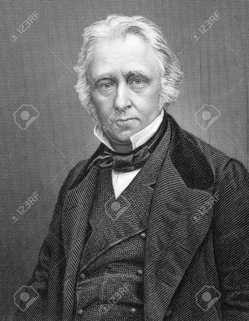 Thomas Babington Macaulay, 1st Baron Macaulay (1800-1859) on 1800s engraving. British poet, historian and Whig politician. Engraved by C.Cook and published by W.Mackenzie. Stock Photo - 9794828