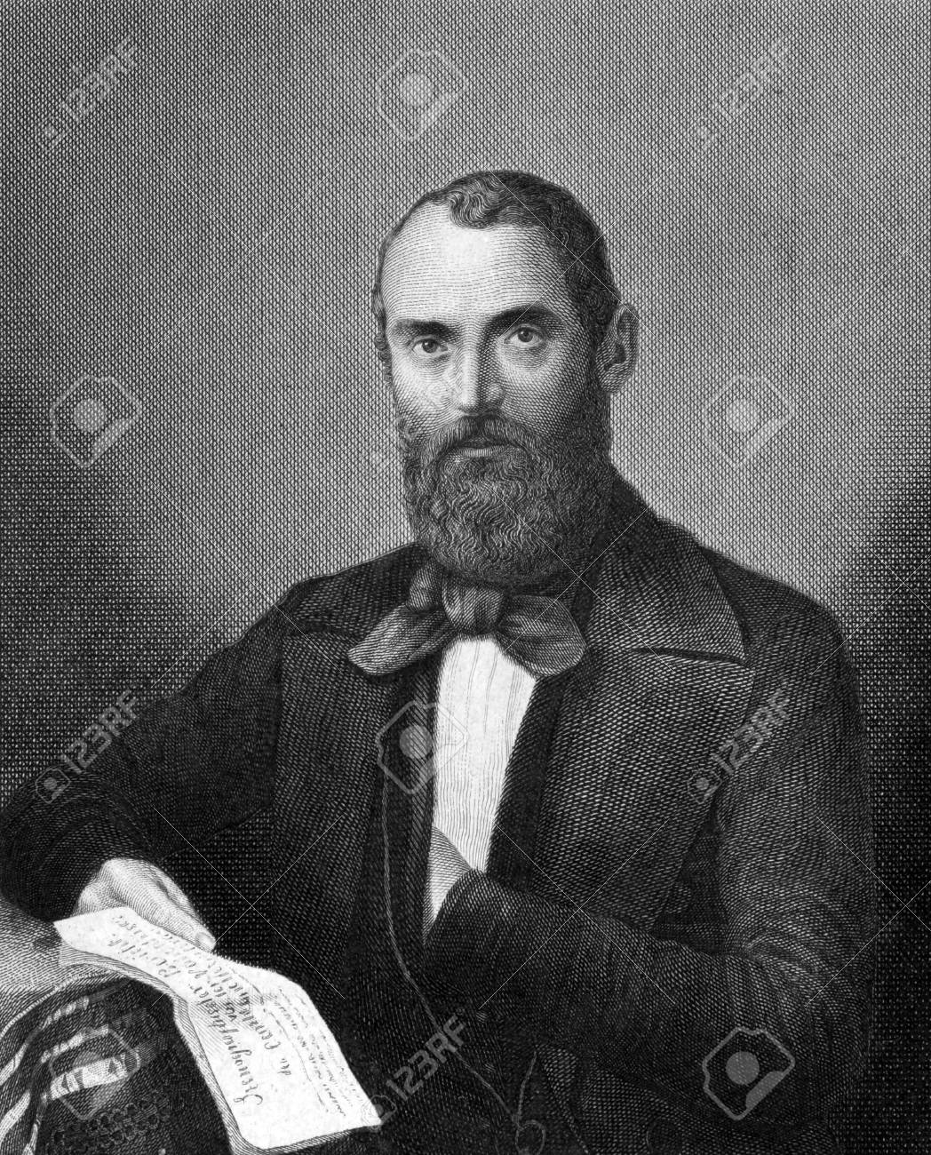 1859 年から彫刻 Carl Nauwerk (1810年-1891 年)。ドイツの神学者 ...