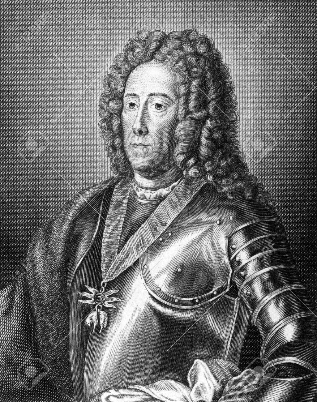 Eugen von Savoyen (1663-1736) on engraving from 1859. One of the