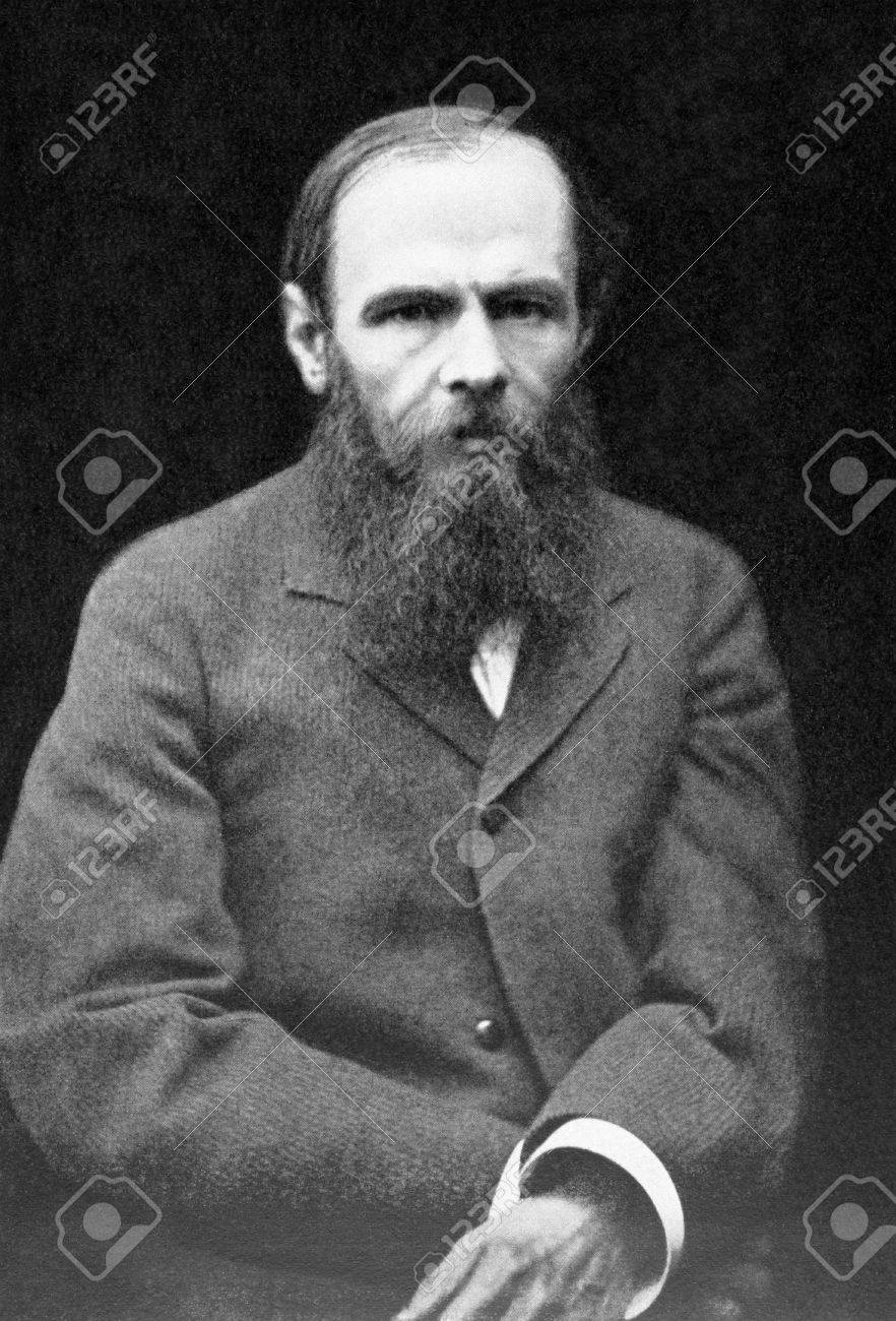 Fyodor Dostoyevsky (1821-1881) on antique print from 1899. Russian writer of novels, short stories and essays. After Leben and published in the 19th century in portraits, Germany, 1899.